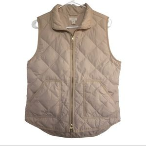 J. Crew Puffer Quilted Down Excursion Vest Cream